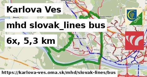 Karlova Ves Doprava slovak-lines bus