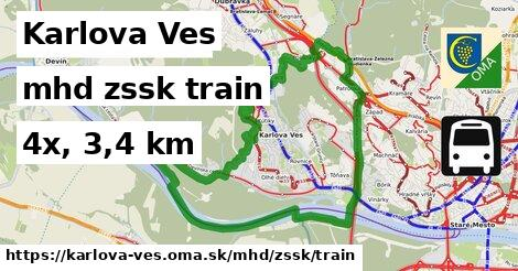 Karlova Ves Doprava zssk train