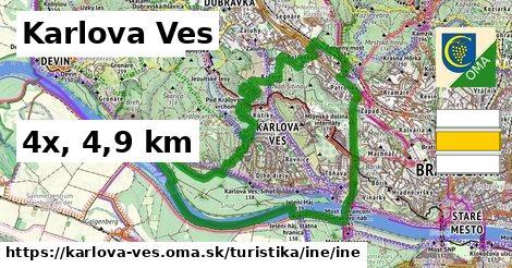 Karlova Ves Turistické trasy iná iná