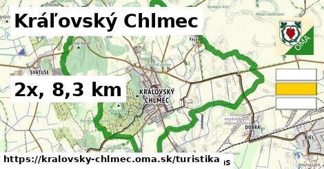 Kráľovský Chlmec Turistické trasy