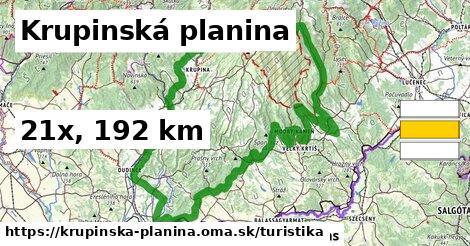 Krupinská planina Turistické trasy