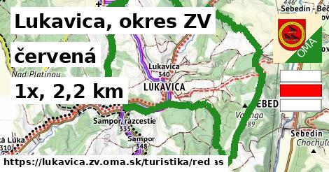 Lukavica, okres ZV Turistické trasy červená