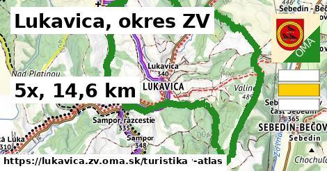 Lukavica, okres ZV Turistické trasy