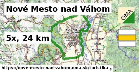 Nové Mesto nad Váhom Turistické trasy
