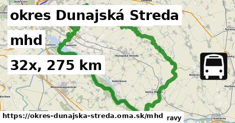 okres Dunajská Streda Doprava
