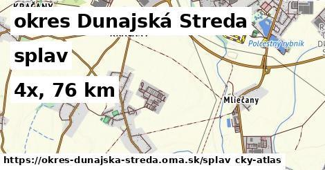 okres Dunajská Streda Splav