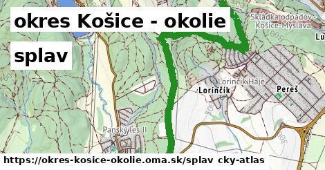 okres Košice - okolie Splav