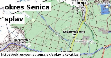 okres Senica Splav