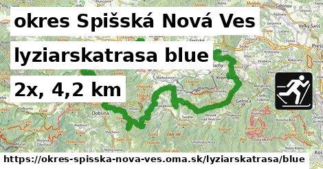 okres Spišská Nová Ves Lyžiarske trasy modrá