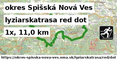 okres Spišská Nová Ves Lyžiarske trasy červená dot