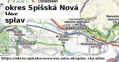 okres Spišská Nová Ves Splav
