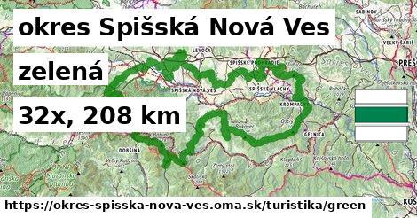 okres Spišská Nová Ves Turistické trasy zelená