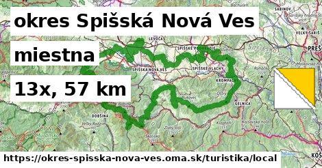 okres Spišská Nová Ves Turistické trasy miestna