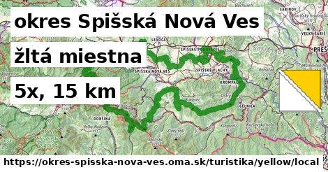 okres Spišská Nová Ves Turistické trasy žltá miestna