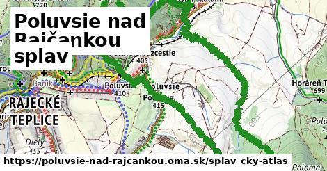 Poluvsie nad Rajčankou Splav