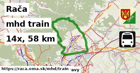 Rača Doprava train