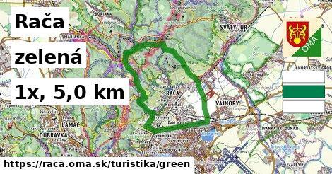 Rača Turistické trasy zelená