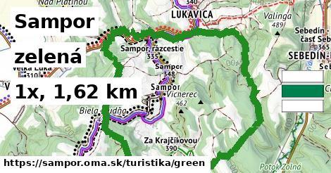 Sampor Turistické trasy zelená