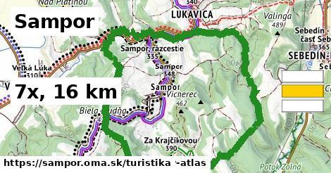 Sampor Turistické trasy