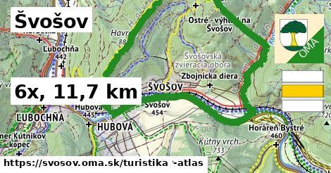 Švošov Turistické trasy