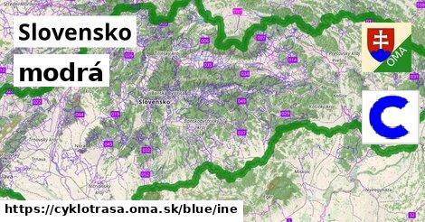 Slovensko Cyklotrasy modrá iná