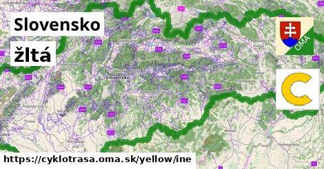 Slovensko Cyklotrasy žltá iná