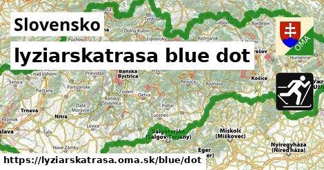 Slovensko Lyžiarske trasy modrá dot