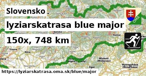 Slovensko Lyžiarske trasy modrá hlavná