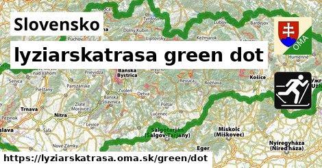 Slovensko Lyžiarske trasy zelená dot