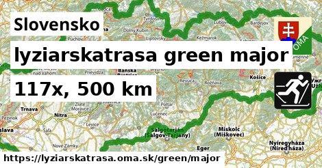 Slovensko Lyžiarske trasy zelená hlavná