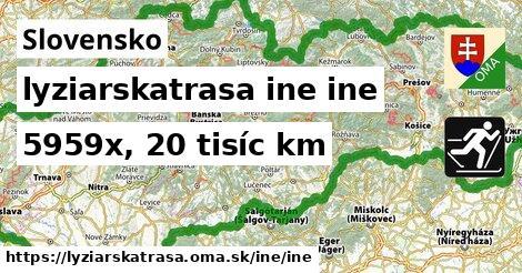 Slovensko Lyžiarske trasy iná iná