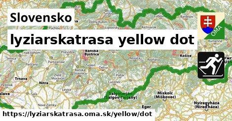 Slovensko Lyžiarske trasy žltá dot