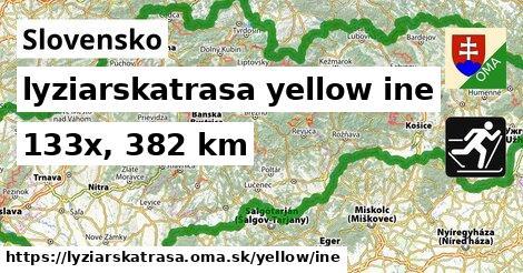 Slovensko Lyžiarske trasy žltá iná