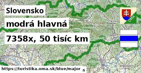 Slovensko Turistické trasy modrá hlavná