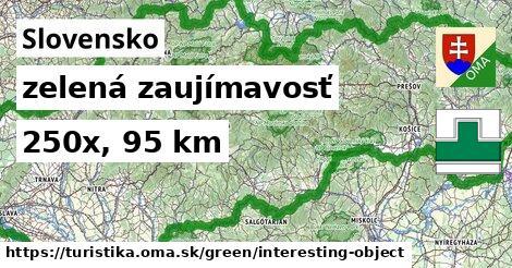 Slovensko Turistické trasy zelená zaujímavosť