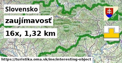 Slovensko Turistické trasy iná zaujímavosť