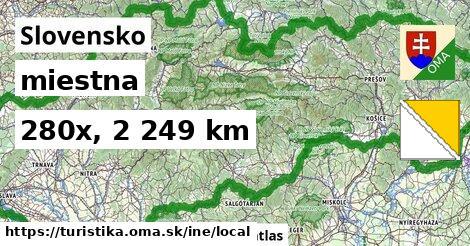 Slovensko Turistické trasy iná miestna