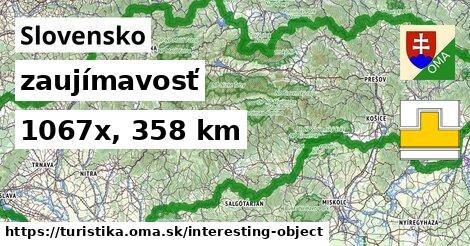 Slovensko Turistické trasy zaujímavosť