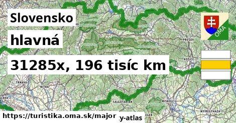 Slovensko Turistické trasy hlavná