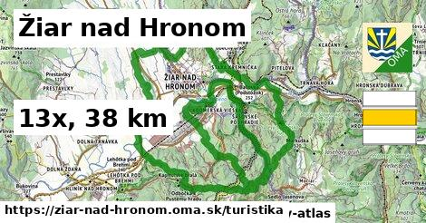 Žiar nad Hronom Turistické trasy