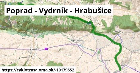 Poprad - Vydrník - Hrabušice