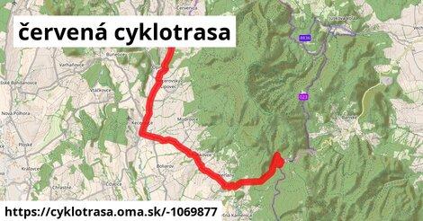 ilustračný obrázok k červená cyklotrasa