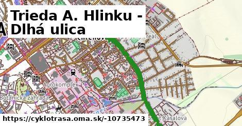 Cyklotrasa Trieda A. Hlinku - Dlhá ulica