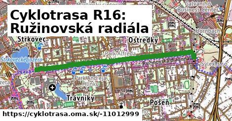 Cyklotrasa R16: Ružinovská radiála