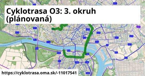 Cyklotrasa O3: 3. okruh (plánovaná)