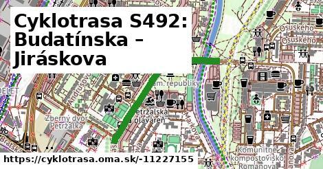 Cyklotrasa S492: Budatínska – Jiráskova