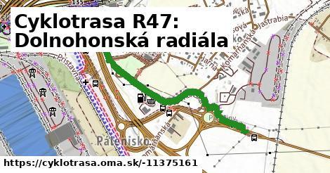 Cyklotrasa R47: Dolnohonská radiála