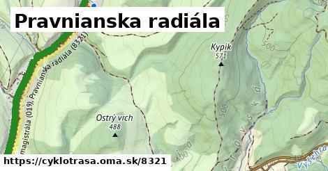 ilustračný obrázok k Pravnianska radiála