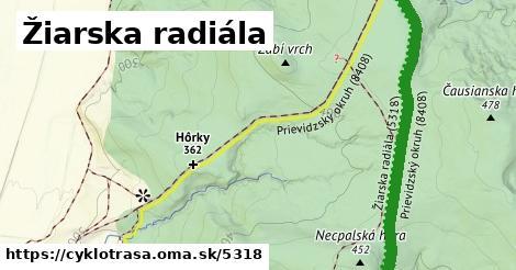 ilustračný obrázok k Žiarska radiála