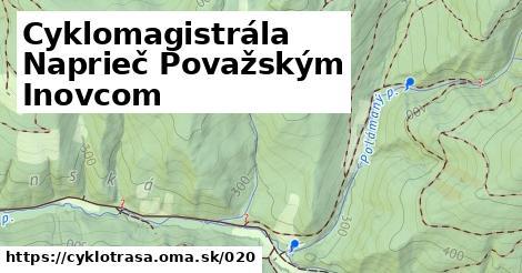 ilustračný obrázok k Cyklomagistrála Naprieč Považským Inovcom